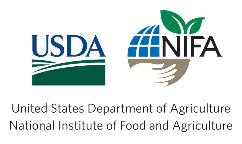 US Department of Agriculture and National Institute of Food and Agriculture, logo and text